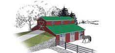 1000 images about barns on pinterest morton building for Monitor barn kit