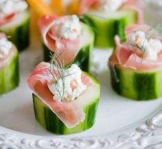 Prosciutto, Sour Cream & Feta Stuffed Cucumbers A little Twist on Light and Flavorful Summer Hors d' oeuvre With Summer and the accompanying warmer weather coming, outdoor barbecues, pool parties and the need for lighter fare is in order.  This recipe fits the bill to a tee, creating a delicious hors d' oeuvre to be served with cocktails, or part of a lavish spread for the entire family and friends to enjoy! In another version I stuff the cucumber with a spicy crab mixture which is totally…