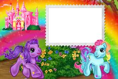 Ponies Kids Transparent Frame   Gallery Yopriceville - High-Quality Images and Transparent PNG Free Clipart