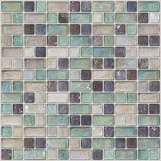 Allentown - A beautiful blend featuring iridescent glass tiles in clear, aqua and purple, inspired by downtown Buffalo, NYs historic district. $29.49