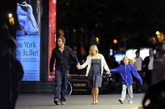 Jake Gyllenhaal and Reese Witherspoon Photos Photos - On their last evening in Paris, Jake Gyllenhaal, Reese Witherspoon, and her daughter Ava enjoy dinner at Andre Allard then head out to watch the Bastille Day fireworks at the Eiffel Tower.  Jake lets little Ava watch the fireworks from his shoulders!  . - Jake, Reese, and Ava's Last Night in Paris
