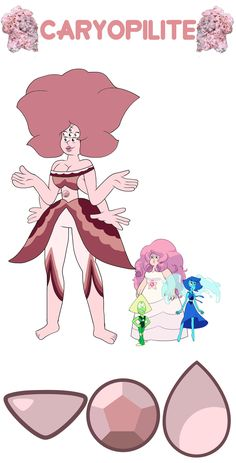 Lapis + Rose + Peridot = Caryopilite Personality below! Caryopilite is somewhat reserved and doesn't often share her true feelings, but she's still very friendly and often presents as a sort of character. She loves Steven more than anything and would do anything to protect her loved ones. She fights primarily with a shield that can melt to trip up and trap enemies (the weapon of Iolite, the Lapis/Rose fusion). Her other abilities include hydrokinesis, agrokinesis, healing water, and perfect…
