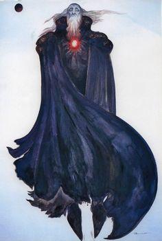 yoshitaka amano - final fantasy IX (garland)