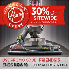 Enter to win a Hoover Stick Vac! Ends Today (11/19/12) at 3PM EST!