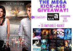 Join the Mega Kick-ass Giveaway to win: A signed copy of A Courtroom of Ashes A bookmark that BITES An Amazon gift card worth of $15! 10 e-books that will rock your world!