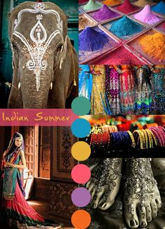 Bollywood Inspiration- the vibrant colors, the bangles, the henna, the lenghas... love it all :)