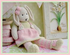 """LILY Bunny is a 9"""" Spring baby Bunny..she also has a brother SAMUEL.."""