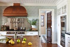 Savvy Home: Designer Crush: S.B. Long Interiors: gorgeous copper range hood
