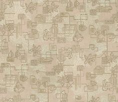 Squares and Plants: ARW033 | Astek Retro Wallpaper