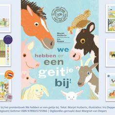 Digibordles-we-hebben-er-een-geitje-bij Digibordles bij het prentenboek 'We hebben er een geitje bij', geschreven door Marjet Huiberts en illustraties van Iris Deppe. Spel 1: Rijmen met dieren Spel 2: Luisterspel, welke plaat hoort bij de zin? Spel 3: Telspel met dieren. Er zijn er meer dan je denkt! Spel 4: Dieren raden, plak de klanken aan elkaar. Spel 5: Zoek het dier. Dit spel is in het Nederlands én Engels Spel 6: Welk dier hoor je?