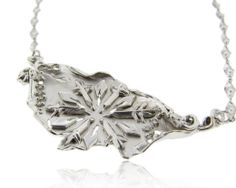 Glittering snowflake bib necklace high fashion statement jewelry