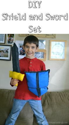 DIY shield and sword set