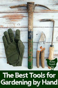 Plant the best garden of your life with the help of these hand gardening tools. They're perfect for the techno-phobe that prefers to do their work by hand and isn't afraid to get dirty #vegetablegarden #beginnergardening #gardeninggifts #gardeningtools #b #bestgardentools