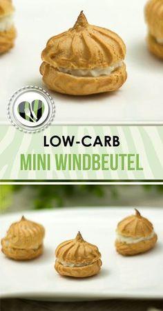 Die mini Windbeutel sind lecker und und low-carb. Zudem ist das Rezept auch noch glutenfrei.