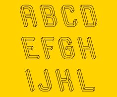 """Designer Martzi Hegedus has developed a font called """"Frustro,"""" which was inspired by the optical illusion """"Penrose triangle."""""""