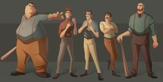 Line-up #6 - Character design collection on Behance