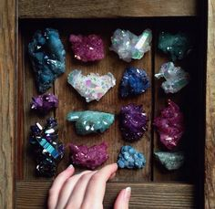 mineraliety:Magical box of aura crystals Sacra Luna let us peek...