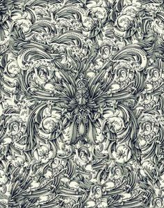 Alex Konahin's Intensely Intricate Boroque Drawings