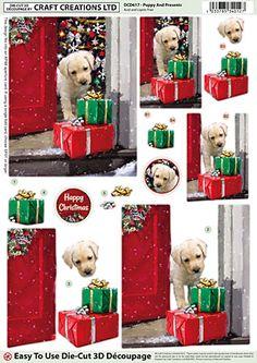 Christmas 3D A4 Die Cut Paper Tole Decoupage Cats Dogs Penguins NEW