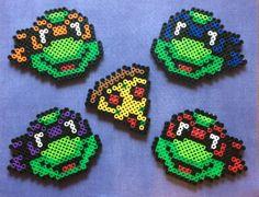 Items similar to Teenage Mutant Ninja Turtles Perler bead set on Etsy Melty Bead Patterns, Pearler Bead Patterns, Perler Patterns, Craft Patterns, Beading Patterns, Perler Bead Templates, Diy Perler Beads, Perler Bead Art, Ninja Turtles