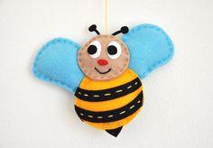 IKO plush felt colorful bee. $, via Etsy.