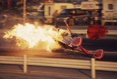 Tommy Ivo going up in flames...1974