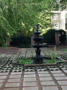 Four tier swan base fountain