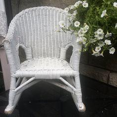 Vintage Child's Wicker Rocking Chair
