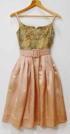 Vintage 1950s Seymour Paisin Tapestry Satin Prom by DressyVintage