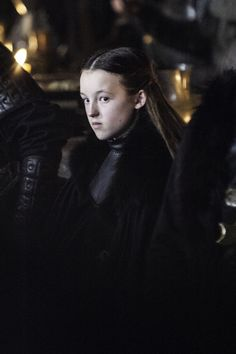 Still of Bella Ramsey as Lyanna Mormont.