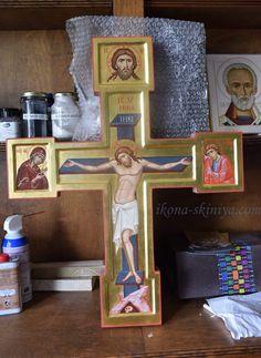 Byzantine Icons, Cthulhu, Crucifix, Crosses, Frame, Decor, Saints, Mosaics, Picture Frame