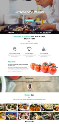 Eleon food recipes html template template and website cook recipes website template forumfinder Choice Image