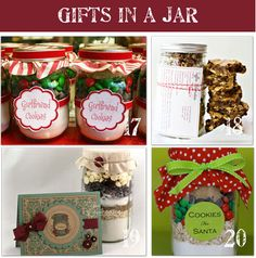 Gifts in a jar (food and non-food items) - this may be a repeat pin.