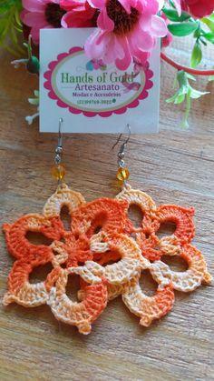 Crochet Jewelry Patterns, Crochet Earrings Pattern, Crochet Snowflake Pattern, Crochet Snowflakes, Crochet Accessories, Crochet Designs, Crochet Craft Fair, Diy Crochet, Crochet Crafts