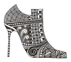 #zentangle shoes