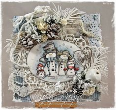 Card by LLC DT Member Tracy Payne, using a mix of Maja Design papers and an image from LOTV.