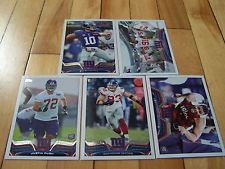 2013 Topps NEW YORK GIANTS (5) Card Lot Manning Pugh RC Hankins RC Myers Mint