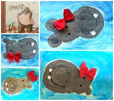 Hippos swimming in the water - so cute!