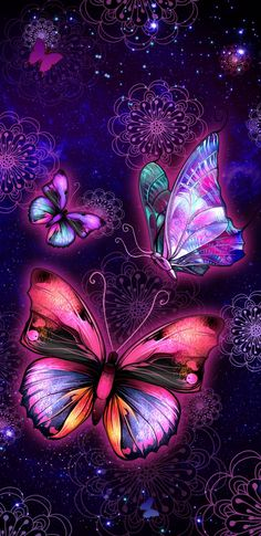 By Artist Unknown. Dragonfly Wallpaper, Butterfly Wallpaper Iphone, Cute Wallpaper Backgrounds, Cellphone Wallpaper, Pretty Wallpapers, Flower Wallpaper, Pretty Phone Wallpaper, Butterfly Painting, Butterfly Art