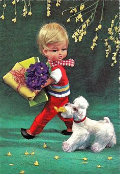 ggsdolls: October 2011 Vintage Images, Vintage Postcards, Hobbies And Crafts, Photo Cards, Vintage Prints, Vintage Dolls, Autumn Rose, Kitsch, Finland
