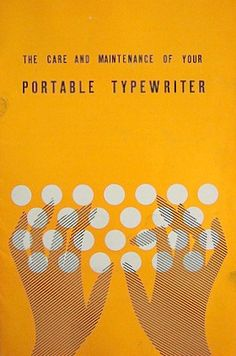 Before the iPad there was the 'Portable Typewriter'. Love this vintage book cover design.