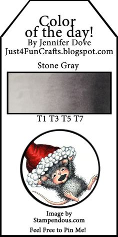Color of the Day 27 - Just4FunCrafts and DoveArt Studios