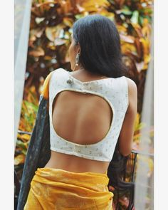Trendy and Stylish Back Neck Blouse Designs For Saree