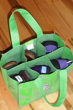 wine bag makes a great shoe carrier when traveling! Diaper Organization, Shoe Organizer, Organization Hacks, Organizers, Shoe Storage Travel, New Uses, Organizing Tips, Creative Home, Travel Accessories