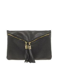Tassel accents (ASOS Double Tassel Zip Clutch Bag)