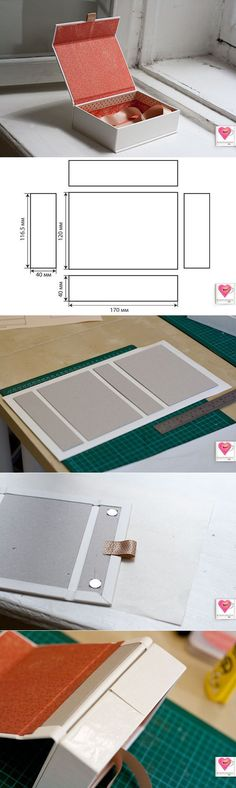 ideas diy box template packaging for 2019 Diy Paper, Paper Crafts, Handmade Paper Boxes, Papier Diy, Cardboard Crafts, Cardboard Box Storage, Diy Storage, Storage Boxes, Box Packaging