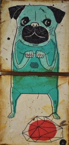 PUGG LIFE by RetroWhale on Etsy. Adorbs!