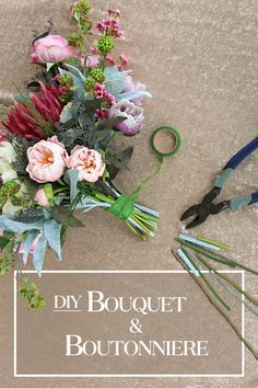 DIY Bouquet & Boutonniere: Glam Wedding - DIY Bouquet and Boutonniere Create your own wedding bouquet and boutonniere with fake flowers from - Boquette Wedding, Wedding Flower Guide, Diy Wedding Flowers, Diy Wedding Flower Arrangements, Wedding Ideas, Wedding Venues, Orange Wedding, Wedding Bridesmaids, Floral Arrangements
