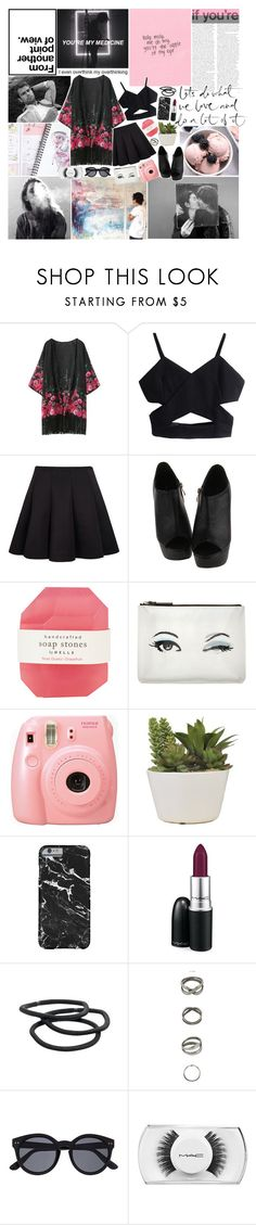 """sometimes you're better off alone..."" by haylekayle ❤ liked on Polyvore featuring Pelle, Kate Spade, Fujifilm, MAC Cosmetics, Goody and Witchery"