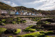 The coastal village of Gardenstown in Aberdeenshire, Scotland.